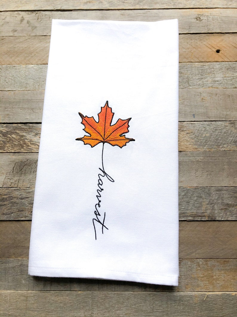 September: Harvest Sentiments of the Year Kitchen Towel image 0