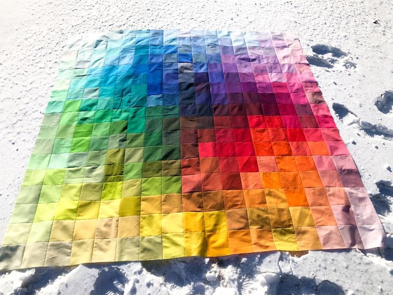 Color Burst: Kona Color Card Modern Lap Quilt PDF Pattern image 0