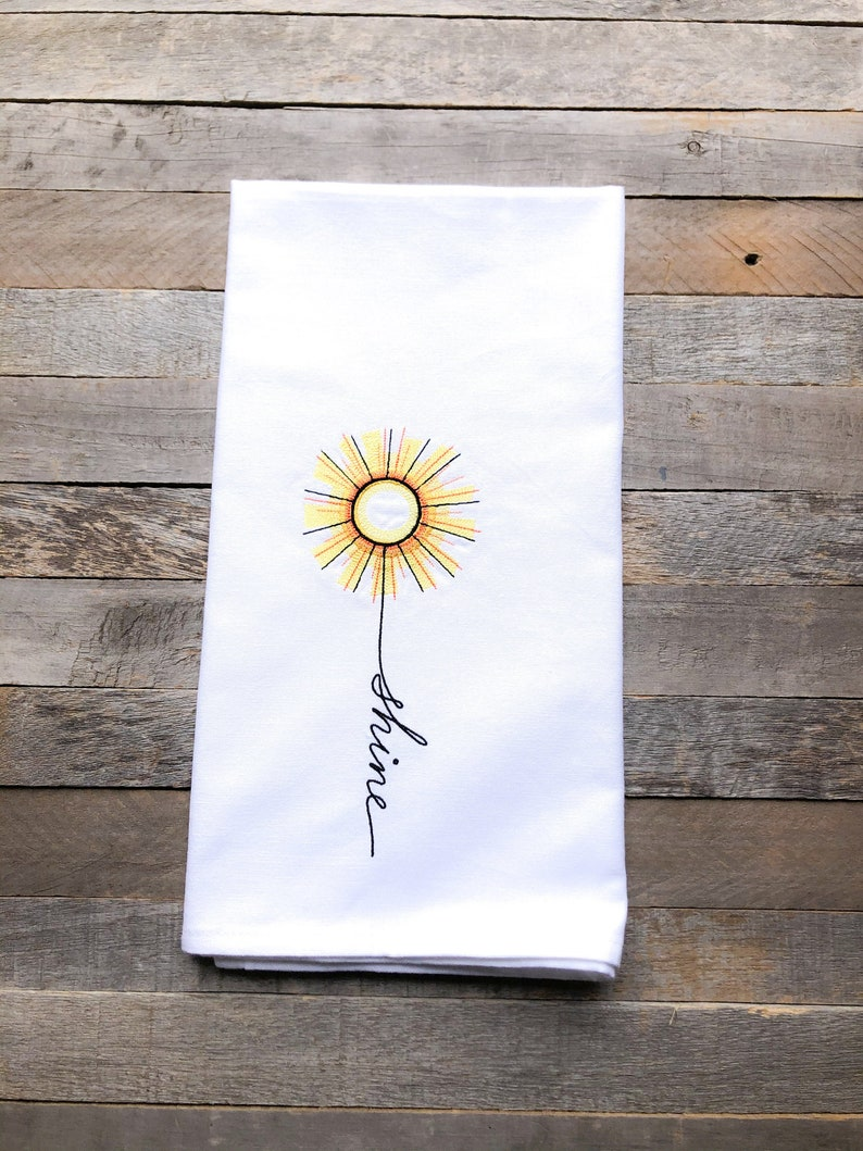 June: Shine Sentiments of the Year Kitchen Towel image 0