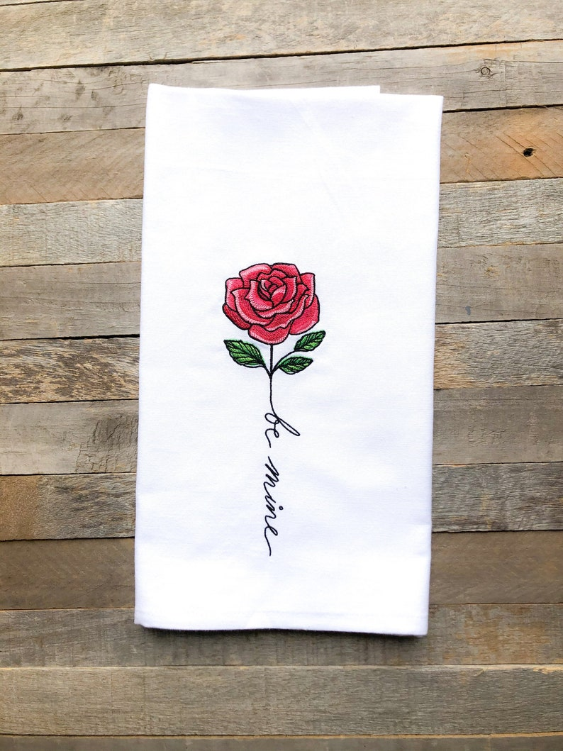 February: Be Mine Sentiments of the Year Kitchen Towel image 0