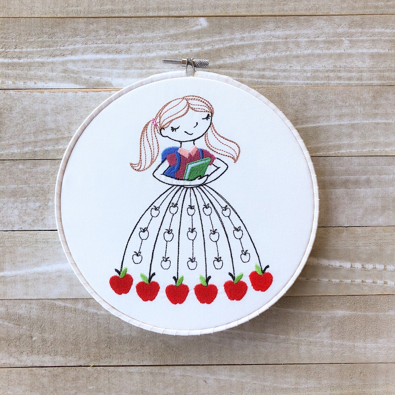 Miss September Monthly Embroidery Hoop Art image 0