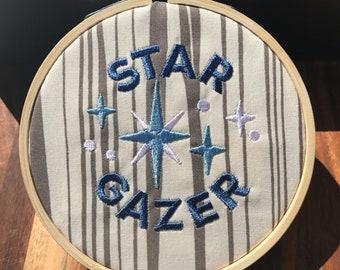 Star Gazer Mini Hoop Wall Art