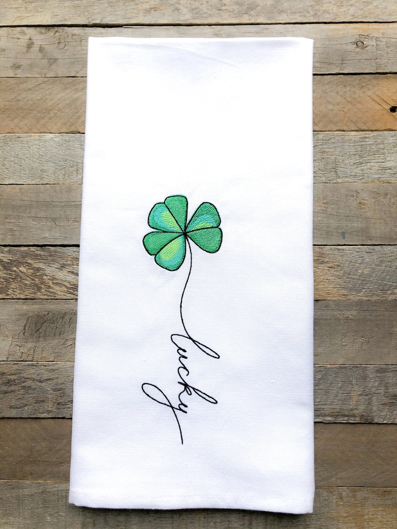 March: Lucky Sentiments of the Year Kitchen Towel image 0