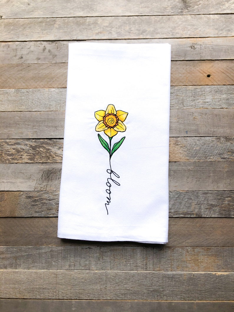 May: Bloom Sentiments of the Year Kitchen Towel image 0