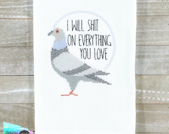 Pigeon Shit On Everything Kitchen Towel