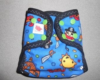 Sized Pirate Booty Diaper Cover