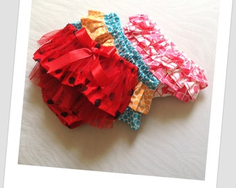 Baby Bloomer Sewing Pattern, Newborn to 2 years, Ruffled Nappy Cover.