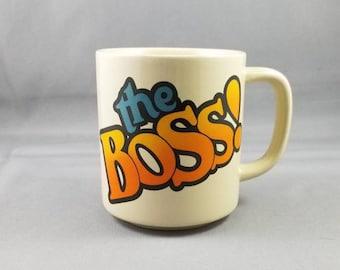 Iconic 1980s Novelty the BOSS! Coffee Tea Hot Chocolate Mug Cup