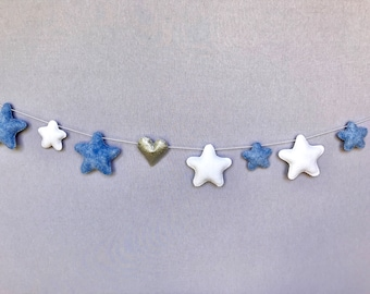 Star and Glitter Heart Garland
