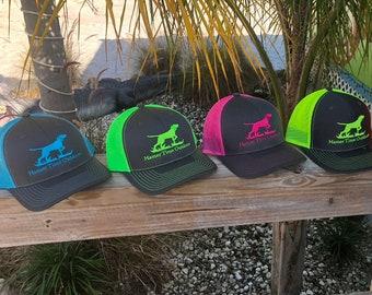 d45cf754 Richardson Trucker Hat, Neon Snap Back Cap. Dog Hound Hunting Hamer Time  Outdoors. Deer Rabbit Fox Duck Bear