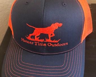 5d5c2ee3df3c20 Richardson Trucker Hat, Neon Snap Back Cap. Dog Hound Hunting Hamer Time  Outdoors. Deer Duck Hog Rabbit Fox Bear