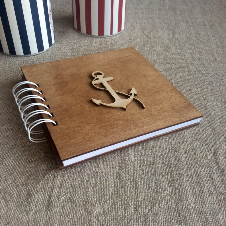Nautical Photo Album Small Photo Book Memory Book Anchor Etsy