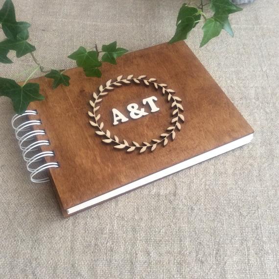 Scrapbook Album Personnalise Livre A Couverture Bois A5 Album Photo De Mariage Cadeau D Anniversaire De 5eme