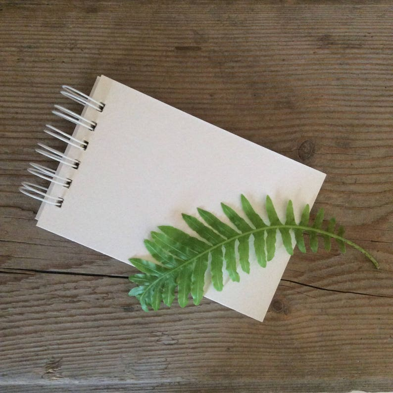 Blank Scrapbook Album Small Notebook White Cardboard Album Etsy