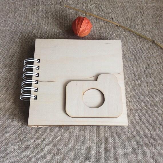 En bois couverture de l'album, album photo vierge, lié, carnet de mémoire de bébé, album scrapbook, spirale lié, vierge, dur couverture de l'album, cadeau pour un ami, pour le voyageur 431fdb
