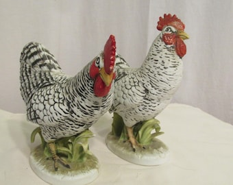 Plymouth Rock Hens by Lefton China