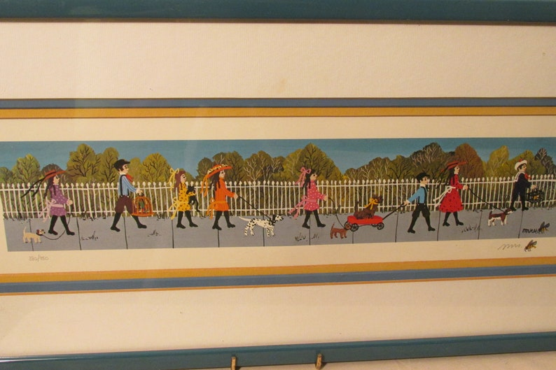 Mrs Bee Limited Edition Offset Lithograph The Pet Parade