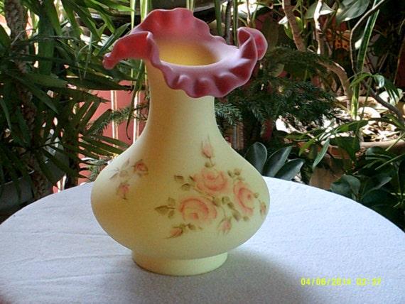 Fenton Burmese Vase Etsy