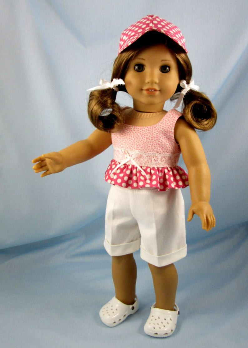 Pink Sleeveless Top  Fits 18 inch American Girl Doll