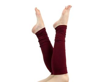 Womens Leg Warmers, Burgundy Leg Warmers, Womens Boot Socks Long Leg Warmers Adult Beauty Gift, Clothing Gift for Her, Best Friend Gift