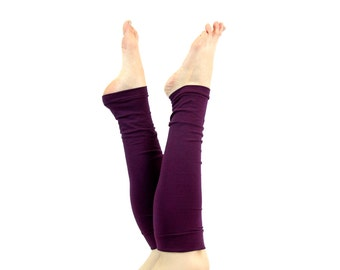 Purple Leg Warmers Womens Leg Warmers, Beauty Gift, Clothing Gift, Yoga Leg Warmers Adult Leg Warmers Long Leg Warmers Gift for Her Ballet