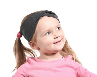 Girls Headband, Twist Headbands Toddler Fall Headband, Grey Headband, Girl Turban Headbands, Ear Warmer Headband Fabric Christmas Gift Girls