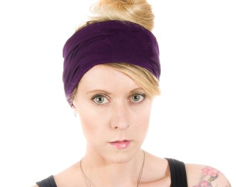 8d832a38a0c6 Purple boho headband