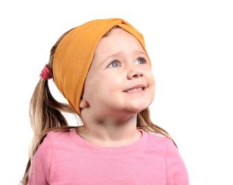 Mustard Headband, Girls Headband, Girl Turban Headbands Fall, Twist Headband, Mustard Kids Headband, Yellow Toddler Child Headband Christmas