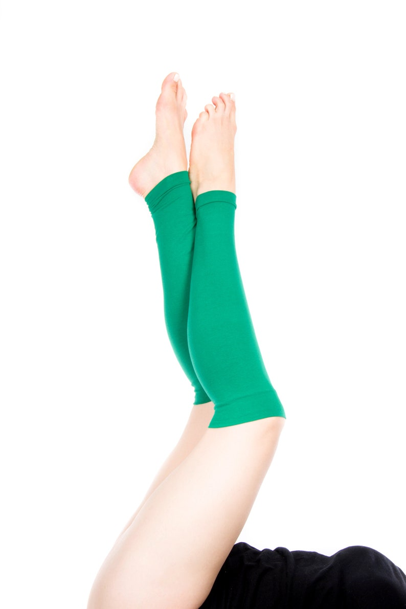 Kelly Green Leg Warmers Womens Leg Warmers Yoga Leg Warmers Adult Leg Warmers Long Leg Warmers Gift for Her Ballet St Patricks Day Shamrock