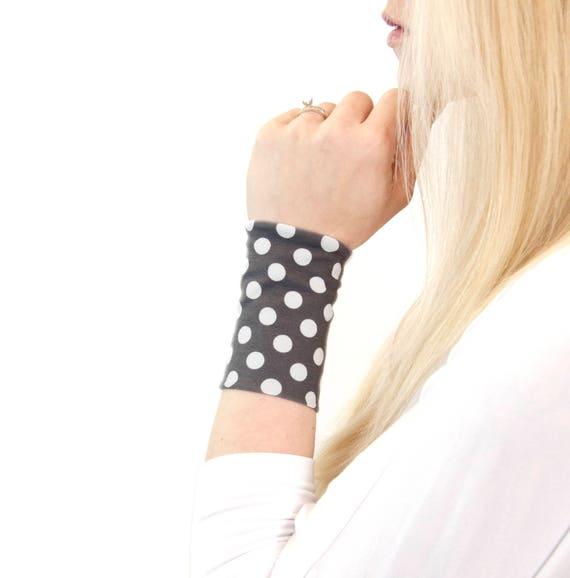 Polka Dot Bracelet Cuff Fabric Wrist Cuffs Wrist Tattoo Etsy