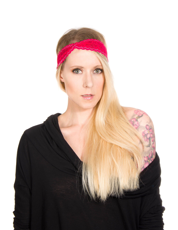 Snowflake Headband Women Red Lace Headband Christmas  cf0e1f5facd