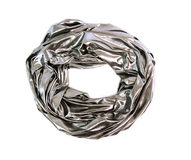 Silver Metallic Infinity Scarf Silver Infinity Scarf image 0