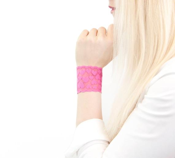 Rose Bracelet Bracelet Coeur Bracelet Manchette Poignet En Etsy
