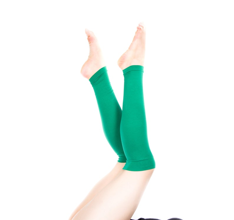 Kelly Green Leg Warmers Womens Leg Warmers Yoga Leg Warmers image 0