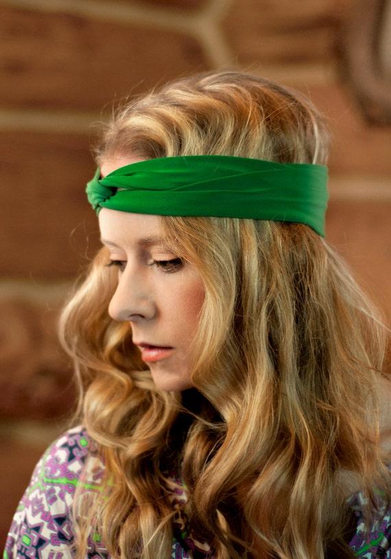 Green Headband Twist Headband Womens Turban Adult Headband  c0cab8d035f