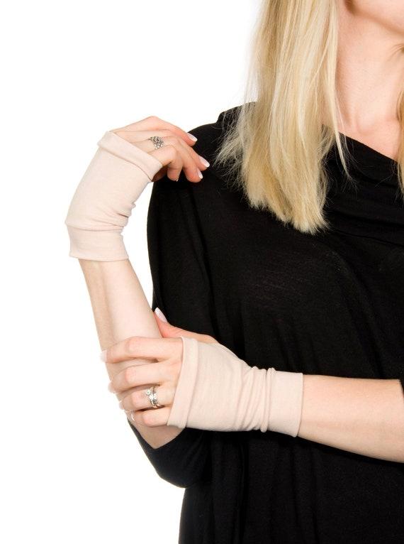 Short Fingerless Gloves Hand Warmers Short Gloves Tan Gloves Etsy