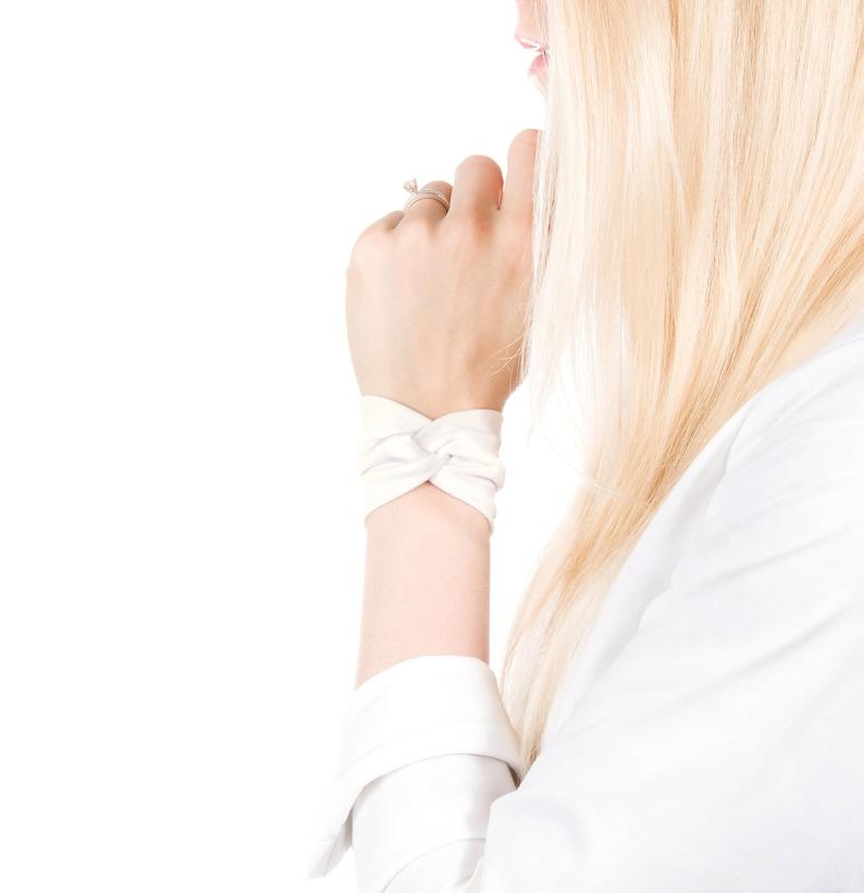 Ivory Bracelet Wrist Cuff Bracelet Twist Bracelet Ivory image 0