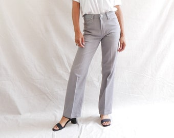 Vintage gray trousers - rustler pants - straight leg pants - 80s chino pants - unisex pants