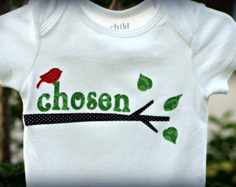 Adoption Onesie, Chosen Baby, Chosen by God, Forever Family