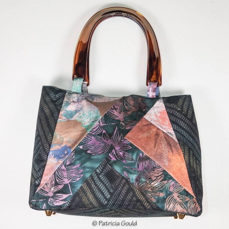 P1 Original Design Silk And Cotton Batik Purse With