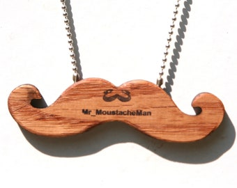 Emergency Moustache Necklace (Stained)