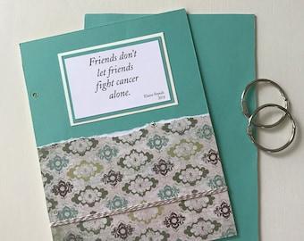 Cancer Survivor Card. Cancer Card Organizer. Cancer Card Memory Book. Greeting Card Holder. Cancer Support Card. Fight Cancer Card.