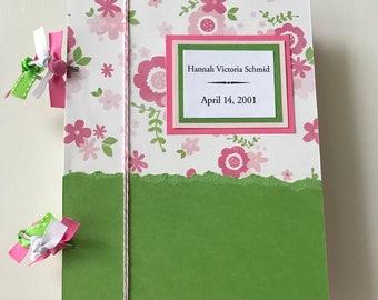 Baby Shower Card - Baby Shower Card Storage - Baby Girl - Greeting Card Storage - New Baby - Greeting Card Organizer, Card Storage