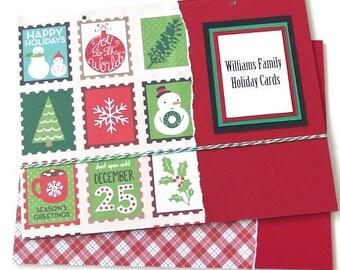 Christmas Cards Book Cover - Christmas Card Organizer - Greeting Card Organizer - Greeting Card Storage - Card Organization - Card Storage