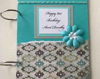 Birthday Card Holder - Greeting Card Storage - Greeting Card Organizer - Birthday Card Memory Book - Greeting Card Holder - Card Storage