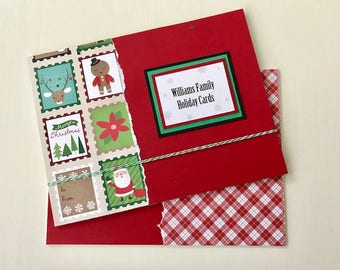 Christmas Card Memory Book - Christmas Cards Organizer - Christmas Card Holder - Greeting Card Organizer - Holiday Cards - Card Storage