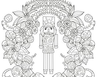 Nutcracker coloring | Etsy