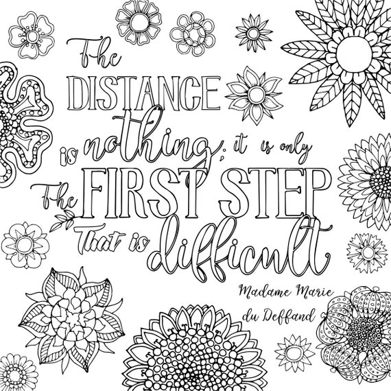 3 Motivational Printable Coloring Pages Zentangle Coloring | Etsy