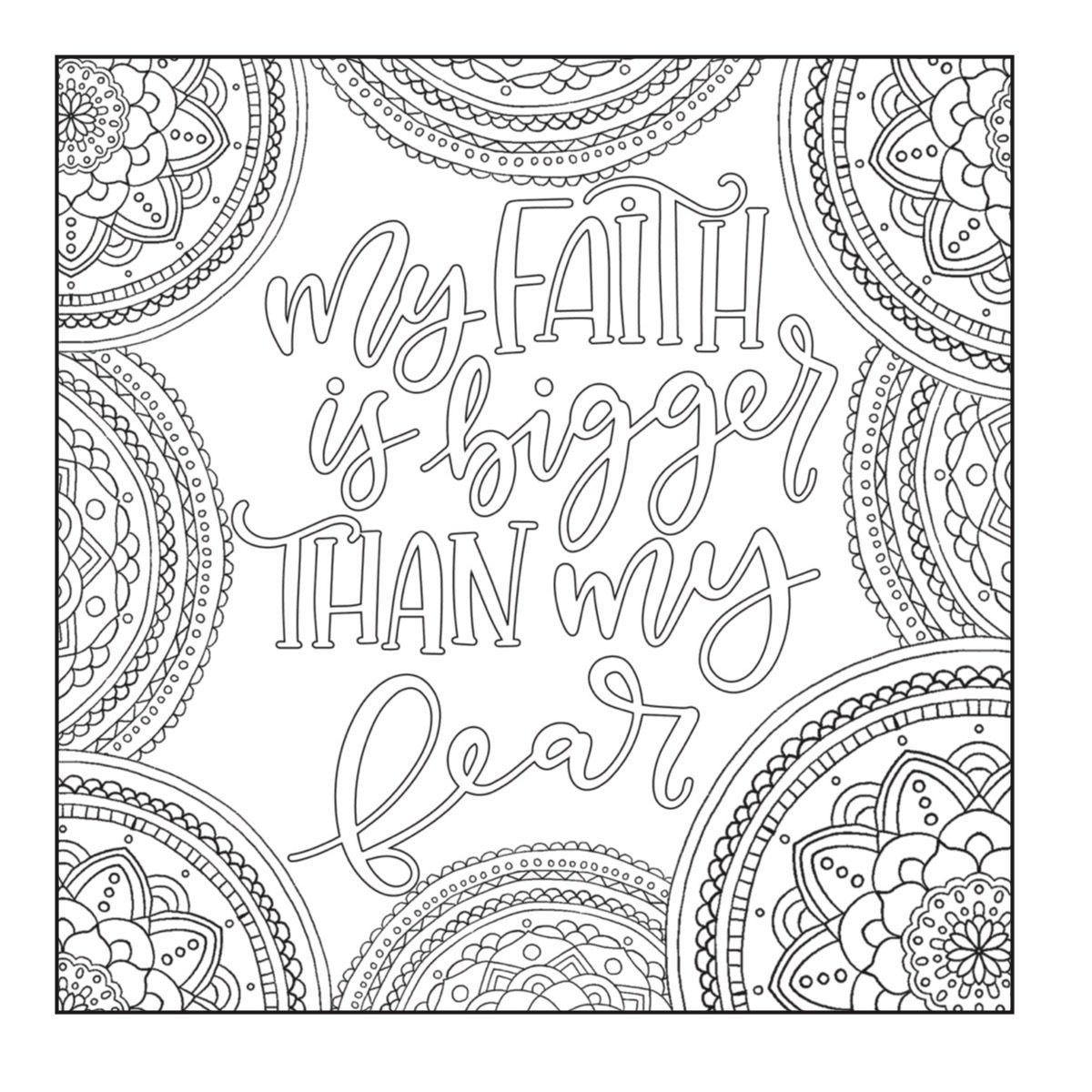 5 Motivational Printable Coloring Pages Zentangle Coloring | Etsy