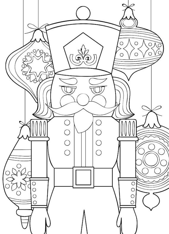 Printable Coloring Page Zentangle Book Nutcracker